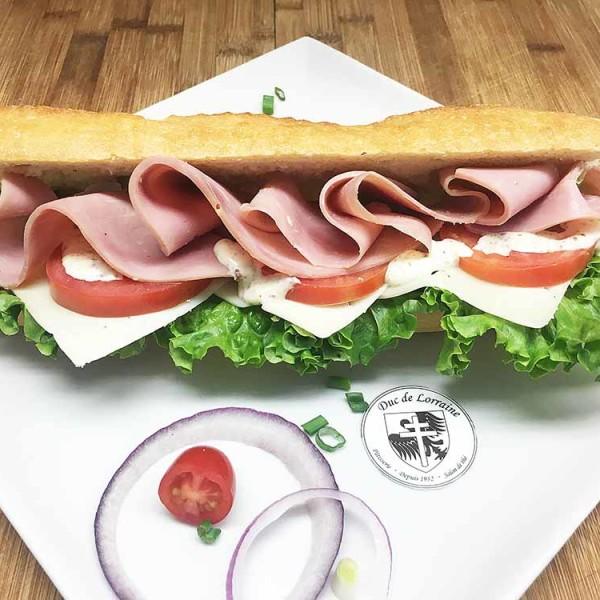 Sandwich Baguette Jambon Fromage