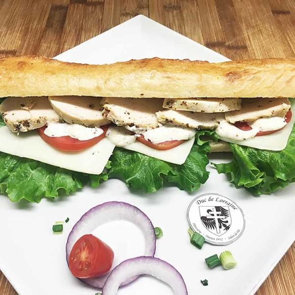 Sandwich Baguette Poulet Grillé Fromage