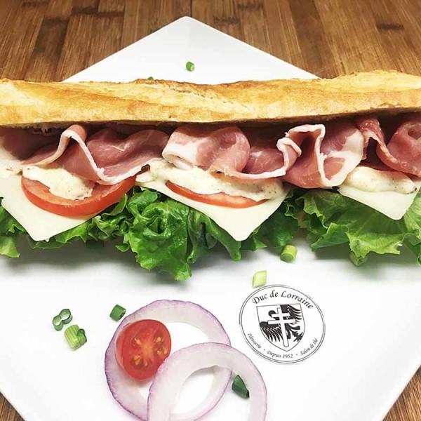 Sandwich Baguette Prosciuto Fromage