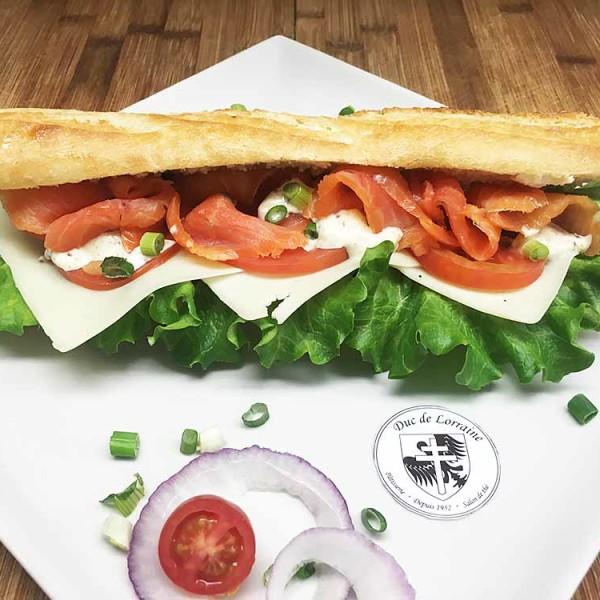 Sandwich Baguette Saumon Fumé